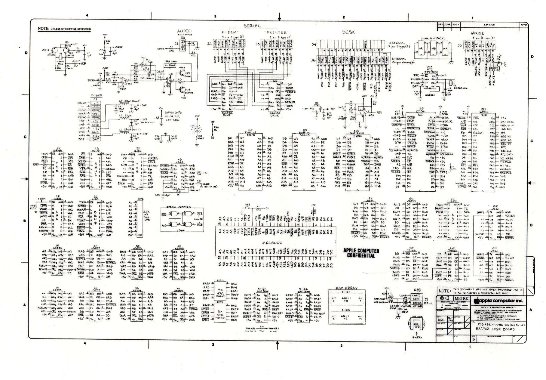 mac logic schematic digibarn diagrams original macintosh 512k logic board schematic wiring diagram for apple tv at honlapkeszites.co